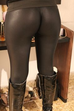 Black leather leggings bottom