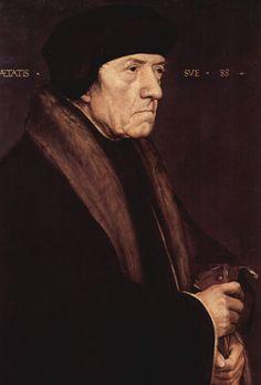 Hans Holbein d. J. Porträt des Dr. John Chambers, Leibarzt des englischen Königs Heinrich VIII.. 1541-1543, Tempera auf Holz, 51 × 54 cm. Wien, Kunsthistorisches Museum. Deutschland und Großbritannien. Renaissance. KO 03047