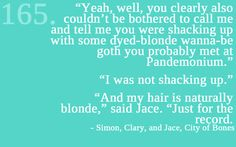 Simon, Jace is a natural blonde!! xD