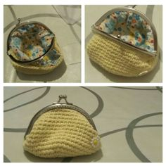 Monedero amarillo crochet