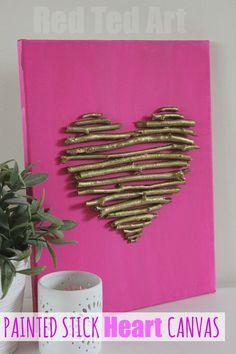Love this SUPER cute Twig Heart Canvas!!! Gorgeous!