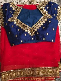 60 blouse designs photos that will latest blouse designs saree top 201 latest trendy blouse designs saree blouse neck designs cotton saree blouse designs for stylishBlouse Designs 2018 For Parties … Blouse Back Neck Designs, Simple Blouse Designs, Stylish Blouse Design, Mirror Work Blouse Design, Mirror Work Saree Blouse, Pattu Saree Blouse Designs, Trendy Sarees, Designer Blouse Patterns, Rave