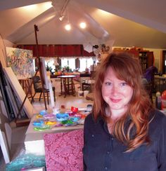 Martina Nehrling Self portrait in studio 1