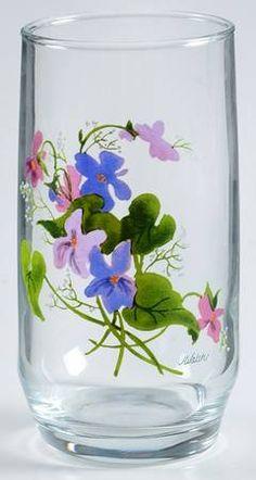 Avon Wild Violets 8 Oz Flat Tumbler