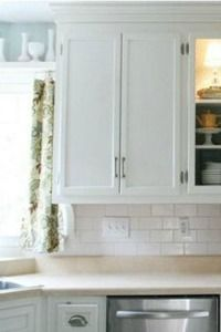 DIY - how to paint kitchen cabinets white