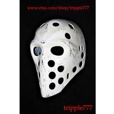 Hockey mask, Hockey goalie, NHL ice hockey, Roller Hockey, Hockey goalie mask, Hockey helmet Richard Sevigny mask HO05