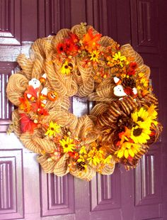 Halloween Fall inspired Wreath by NiccoletasTrade on Etsy