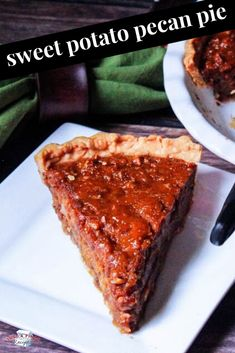 Sweet Potato Pecan Pie is an easy holiday dessert that everyone will love! Sweet Potato Pecan Pie is an easy holiday dessert that everyone will love! Thanksgiving Desserts Easy, Great Desserts, Healthy Dessert Recipes, Pie Recipes, Potato Recipes, Thanksgiving Table, Healthy Desserts, Drink Recipes, Yummy Recipes