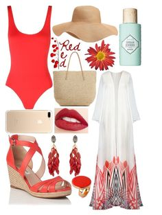 """""""One-piece bathing suit"""" by flowergirl74 ❤ liked on Polyvore featuring Solid & Striped, Old Navy, Marni, STELLA McCARTNEY, Jouer and Benefit"""