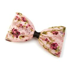 Floral Print Lace Bow Hair Clip | Icing