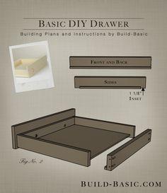 Build a Basic DIY Drawer - Building Plans by @BuildBasic www.build-basic.com
