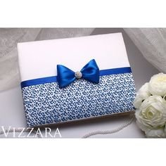 Wedding guest book 📝 for Blue Wedding💍 Handmade ♥  The size is: height - 17.5 cm (6.7 in), width - 22.5 cm (8.7 in). 💞 In the book 30 pages. If you need more pages - let me know (can fit 50 pages). I can add A PERSONALIZED DECOR & WRITE your names or the wedding date, as you wish 😉 Buy & More - link in bio 😘 #wedding #weddingtime #weddingdetails #weddingday #weddingstyle #weddingdresses #weddingideas #weddingdecor #weddingfashion #weddingceremony #weddingblog #weddingvibes #weddingprep…