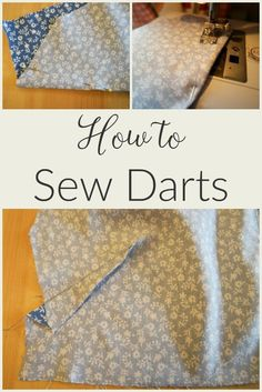 Sewing darts can be off putting if you've never tried them before. But if you want to sew clothes for yourself, they're difficult to avoid and they prevent the things you've made from looking baggy and shapeless! Here's a tutorial showing you how. Hand Sewing Projects, Sewing Projects For Beginners, Sewing Crafts, Sewing Basics, Sewing Hacks, Sewing Tutorials, Sewing Tips, Sewing Ideas, Learn Sewing