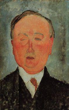 Man in a Monocle Named Bidou : Amedeo Modigliani : Museum Art Images : Museuma