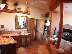 pine poles AZ Arizona hand peeled railings pine mantels Santa Fe Homes ...