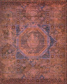 """Great visual presence is achieved in this unusual rug with strong geometrics softened by an extremely delicate palette. It is inspired by a 16th century Egypto-Turkish carpet from the royal manufactory at Constantinople, woven in a bold """"Middle-Star"""" design."""