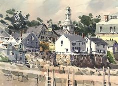 Blaukopf painted The Town, from a Back Beach vantage point.  annual pilgrimage to Bearskin Neck