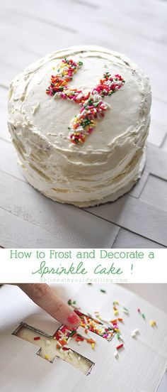 How to make a Number Sprinkle Cake