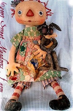 Primitive Pattern Annie's Pet Annie and her little rabbit soo cute !
