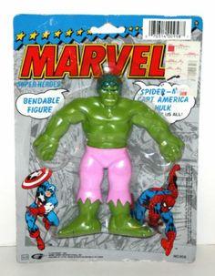 "1990 Henry Gordy Int The Incredible Hulk 6"" Flexi Figure in Package Marvel | eBay"
