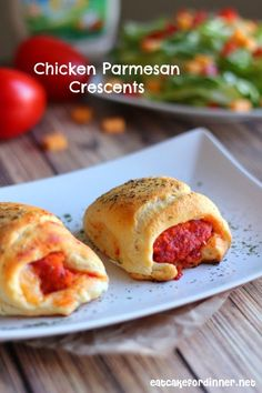 Eat Cake For Dinner: Chicken Parmesan Crescents