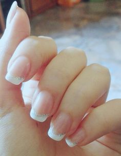 DIY Glittering French Manicure