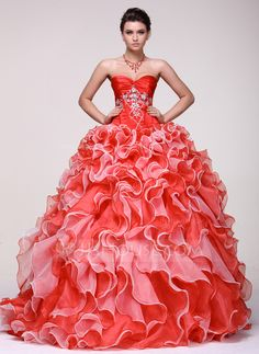 Quinceanera Dresses - Ball-Gown Sweetheart Floor-Length Organza Satin Quinceanera Dress With Beading (021016104) http://jjshouse.com/Ball-Gown-Sweetheart-Floor-Length-Organza-Satin-Quinceanera-Dress-With-Beading-021016104-g16104?ver=xdegc7h0