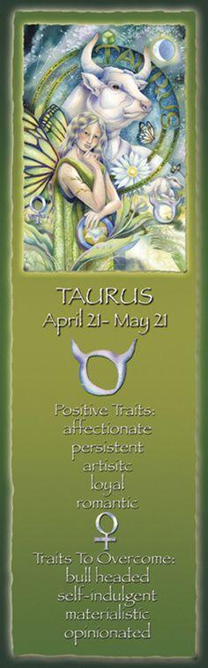 Bergsma Gallery Press::Products::Bookmarks::Zodiac::Zodiac Series / Taurus - Bookmark