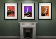 Original Artwork from Czar Catstick, BigFatArts.com.... POWER STATION LONDON BRIDGE SHARD ST PAULS LONDON GALLERIES BATTERSEA POWER SPLATTERPOWER STATIONshard purple LONDON SPLATTER JACKSON POLLAC... - Czar Catstick, BigFatArts.com