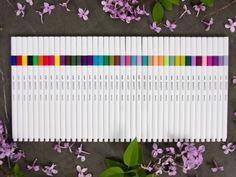Mitsubishi Emott Ever Fine 5 Color Sets Ink Color, Color Pop, Pen Shop, Gel Ink Pens, Retro Color, Japanese Fabric, Vintage Colors, Color Themes, Vivid Colors