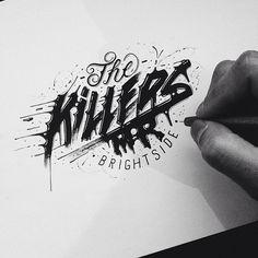 Hand Drawn type, micron, typography,  Raul Alejandro