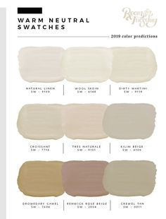 Predicted Paint Colors for 2019 - Room for Tuesday *wool skein Beige Paint Colors, Bedroom Paint Colors, Interior Paint Colors, Paint Colors For Living Room, Paint Colors For Home, House Colors, Tuscan Paint Colors, Cottage Paint Colors, Light Paint Colors