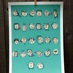 Owl Alphabet. For you @Sarah Bailey!!