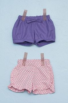 Baby shorts tutorial. Might as well get started on her summer wardrobe, since apparently we aren't having winter this year