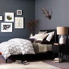 möbel schlafzimmer modernes bett schwarz