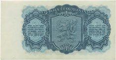 Státovky a bankovky (1953-1993) - Papírová platidla, bankovky Banknote, European Countries, Czech Republic, Graphic Design, Money, Retro, Historia, Nostalgia, Silver