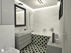 Bydgoszcz - Średnia łazienka bez okna, styl eklektyczny - zdjęcie od PURPLE PRACOWNIA