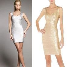 Women gold silver foil print bandage dress new fashion sexy backless lady tank v-neck mini cocktail party bodycon dresses HL1522(China (Mainland))
