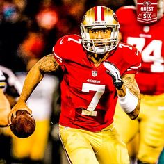 Colin Kaepernick taking it to the Packers. Jan 12th 2013.