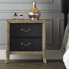 """Mercer41 Landis 2 Drawer Nightstand by Simmons Casegoods : 28"""" H x 26"""" W x 17"""" D $182"""