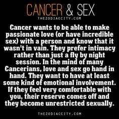 Cancer woman sexuality traits