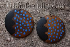 tipisk kimiwan earrings - hand painted contemporary Native American jewelry by Urban regalia