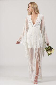White Wedding Maxi Dress Beach Bridal Gown Boho Kimono Embellished Size UK 10 14 Wedding Kimono, Maxi Dress Wedding, Prom Dress, Dress Beach, Beach Dresses, Party Dresses, Boho Kimono, Boho Dress, Homecoming Ideas