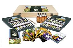 Bach Flower Remedy Complete Kit in Wooden Case. 40 Quality Essences, Pack 30 Divination Cards Free Pen, 4 x Dosage Bottles. Premium Gift Set Box. by Creature Comforters * Read more reviews of the product by visiting the link on the image.