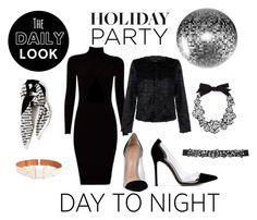 """Day to night"" by valentina-delia ❤ liked on Polyvore featuring Marni, Unreal Fur, J.Crew, Gianvito Rossi, M&Co and HolidayParty"