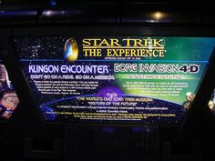 "Star Trek: The Experience was a US$70 million permanent Star Trek-themed attraction at the Las Vegas Hilton Hotel, owned by Cedar Fair Enterprise. Containing shops styled after the Deep Space 9 Promenade, a restaurant styled after Quark's, and the Klingon Encounter and Borg Invasion 4D rides. The store was the largest Star Trek-themed store in the world. Incorporated into the attraction was the ""The History of the Future Museum"" exhibit, a large collection of props and artifacts."