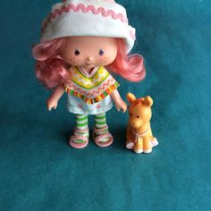 Vintage 1980s Strawberry Shortcake doll CAFE 'OLE and her pet Burrito Burro American Greetings Kenner on Etsy, $20.00