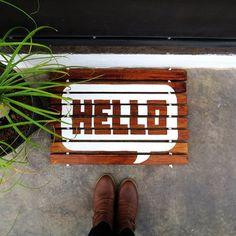 Make a wood-slat doormat for almost no money.