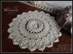 A Patricia Kristoffersen design. From the book Victorian Spiral Doilies ($7.95). Please email me for purchasing information (pkcrochet@yahoo)