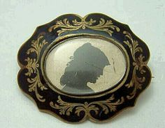 Mourning Brooch....beautiful!